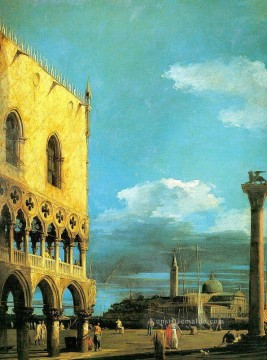 the piazzet looking south 1727 Canaletto Ölgemälde